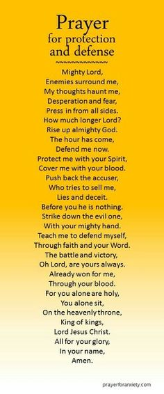 Prayer for protection and defense. We need to pray this even in good times for the enemy waits for the opportunity to attack us and we may not recognize it ourselves. Prayers and how to pray Prayer Scriptures, Bible Prayers, Faith Prayer, Prayer Quotes, Spiritual Quotes, Bible Quotes, Spiritual Warfare Prayers, God Prayer, Scripture Verses