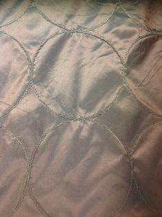 Faux Silk In Chocolate With Raised Circles By The Metre