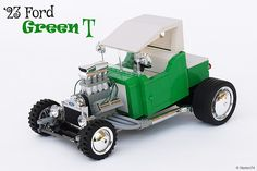 Green tea is just like regular tea, only worse in every way. Norton74's green T-Bucket though, looks damn tasty. It's based on a '23 Ford Model-T, powered by a huge V8 engine, and it most likely ha...