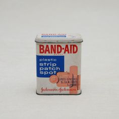 When Band-Aids came in a tin and had a red string you pulled to remove their wrappers....