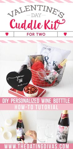 Sweet and romantic Valentine's Day Gift AND Date Night idea- a V-Day Cuddle Kit! www.TheDatingDivas.com