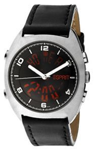 Esprit Men's Black Dial Leather Band Watch - ES1AUF2.5349.C70 | Souq - Egypt Casual Watches, Watches For Men, Watch Model, Leather Watch Bands, Stainless Steel Case, Casio, Egypt, Michael Kors, Accessories