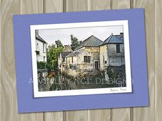 Bayeux France  - blank note card by Awfully Nice Designs.