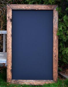 "Huge Rustic Framed Chalkboard 34""x53"", Rustic Wedding, Menu Board, Chalkboard, Sign, Reclaimed Wood, Large Chalkboard, Rustic Chalkboard"