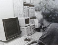 Pierwszy, otrzymany przez Bibliotekę komputer - IBM PC AT w 1989 roku