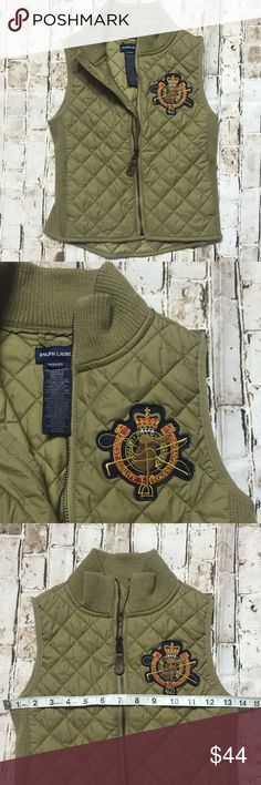 Polo Ralph Lauren medium kids 8-10 vest jacket Excellent condition! Measurements are posted on the pictures thanks  beautiful!!! Polo by Ralph Lauren Jackets & Coats Vests