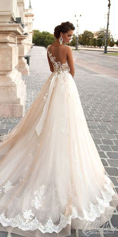 Milla Nova Wedding Dresses Collection 2016 ❤ See more: www.weddingforwar… Milla Nova Wedding Dresses Collection 2016 ❤ See more: www. Mila Nova Wedding Dress, Dream Wedding Dresses, Bridal Dresses, Wedding Dressses, Fall Wedding Gowns, Spring Wedding, Ruffled Wedding Dresses, Vera Wang Wedding Dresses, Wedding Dresses With Bling