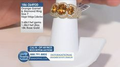 The Most Exquisite Jewelry Experience On TV - Colored Gemstones, Diamonds and So Much More! Garnet And Diamond Ring, Garnet Rings, Garnet Gemstone, Oval Diamond, Blue Sapphire Necklace, Emerald Green Earrings, Ruby Rings, Diamond Bracelets, 18k Rose Gold