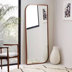 Lookin' good! Shop our new Metal Framed Floor Mirror with the link in bio! #mywestelm #mirrormirror by westelm on Instagram