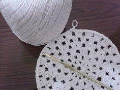 Sousplat, motivo redondo de croché, parte 02 #crochet #crocheredondo