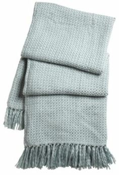 Cuddle up with this soft knitted throw with beautiful tasseled edging #Throw #CityFields
