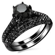 Image result for gothic black engagement ring