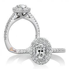 "Bremer Jewelry A.JAFFE  ""Metropolitan"" 14k White Gold Diamond Engagement Ring Setting"