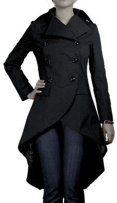 Feminine touch on a trench coat