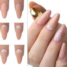 beauty nails of art zuffenhausen Nail Art 3d, Cute Nail Art, Cute Nails, Manicure, Pedicure Nail Art, Gel Nails, Almond Acrylic Nails, Almond Nails, Nailart