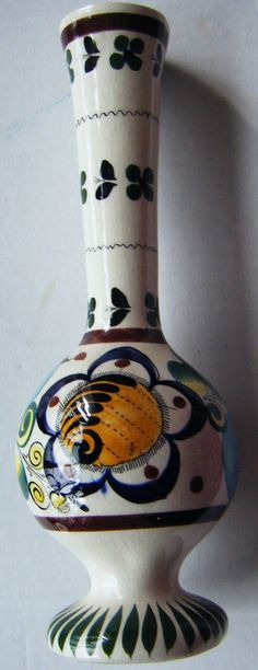 Beautiful Vintage Hand Painted Multi Colored Vase or by parkledge, $15.00