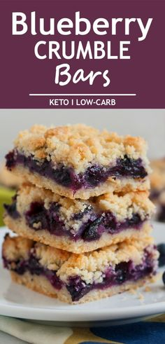 Keto Blueberry Crumble Bars are absolutely perfect for your weekend or holiday b. - Keto Blueberry Crumble Bars are absolutely perfect for your weekend or holiday brunch. Keto Cookies, Cookies Et Biscuits, Low Carb Desserts, Easy Desserts, Low Carb Recipes, Bar Recipes, Crockpot Recipes, Easy Blueberry Desserts, Healthy Blueberry Recipes