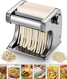 Automatic Electric Pasta Maker Machine Motorised -Noodles Fettuccine Tagliatelle