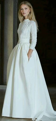 A wonderful wedding dress with sleeves