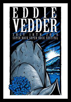 Eddie Vedder Portugal 2014 Poster
