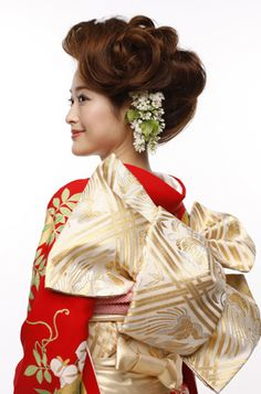 #Kimono and #hair styling by Hatsuko Endo Ginza #obi