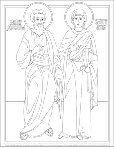 Saints Joachim and Anna coloring page