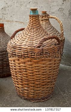 I love wicker covered bottles