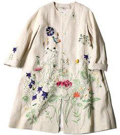 ギマツイード刺繍コート ¥81,000