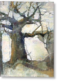 Icy Dawn Greeting Card by Wendy Rosselli