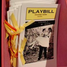 Playbill wedding programs! so perffffff I love theater!