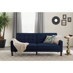 Better Homes and Gardens Porter Fabric Tufted Futon, Multiple Colors