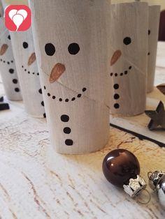 Schneemann Bowling Winterspiele für den Kindergeburtstag