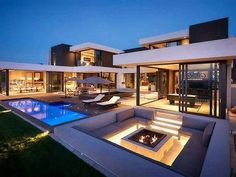 4 Bedroom House for sale in Steyn City Modern House Exterior bedroom City house Sale Steyn Dream Home Design, Modern House Design, Luxury Modern House, Best Home Design, Modern Pool House, Modern Houses, South African Homes, Dream Mansion, Mansion Homes