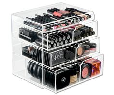 Makeup clear organizer. See what you have. Great for over counter, on vanity, or under sink.