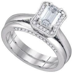 1 1/2CTW-Diamond 1 CT-CEME BRIDAL SET