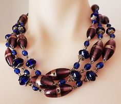 Spectacular+Vintage+Murano+Venetian+Glass+Hand+Wired+Flapper+Necklace $80 AUS