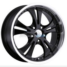 "1 - 17x7 Vision Shockwave 5x110 +42mm Black Wheel Rim Inch 17"" #Vision"