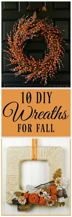 10 DIY Wreaths to ma