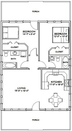 Build ANY Shed In A Weekend - PDF house plans, garage plans, shed plans. Our plans include complete step-by-step details. If you are a first time builder trying to figure out how to build a shed, you are in the right place! The Plan, How To Plan, Garage Apartment Plans, Garage Plans, Car Garage, House 2, Cottage House, 2 Bedroom House Plans, 2 Bedroom Apartment Floor Plan