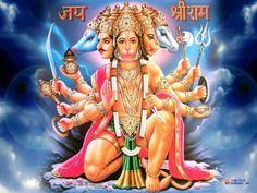 Lord Panchmukhi Hanuman HD Wallpaper Free Download