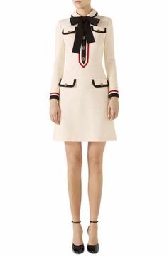 Gucci Bow Neck Piped Jersey Dress~~Someday Gucci, someday.
