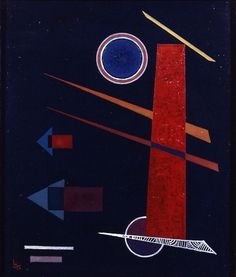 Wassily Kandinsky (Russian, 1866 - 1944) Mighty Red (Mächtiges Rot), 1928 oïl on canvas
