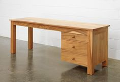 Created by artist Roy McMakin, Domestic Furniture fabricates furniture by hand in small quantities at Big Leaf Manufacturing, its Seattle workshop. Dream Furniture, Desks, Guest Room, Office Desk, Wood, Home Decor, Mesas, Desk Office, Decoration Home