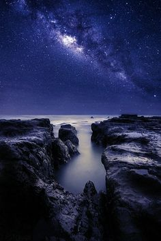 Starry Pacific ocean seascape, Costa Rica ..... by Luis Figuer on 500px