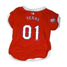 Texas Rangers V-Neck Dog Jersey