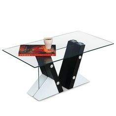 A high impact #coffee #table, most apt for contemporary settings. A sleek #glass #top with fine #veneer finish further enhances its beauty.