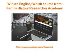 Win an English/Welsh Course from Family History Researcher Academy