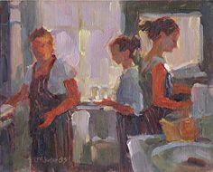 "Knead & Feed Cafe by Jeanne Edwards Oil ~ 8"" x 10"""