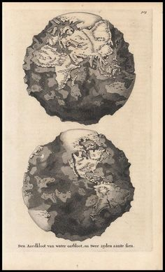 A Dutch #map from 1690 showing what the earth might look like without water. #cartography