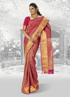 Ravishing Red Pure Kancheepuram Silk Saree